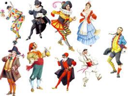 maschere tradizionali italiane di carnevale