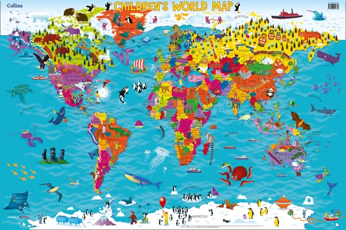 cartina del mondo