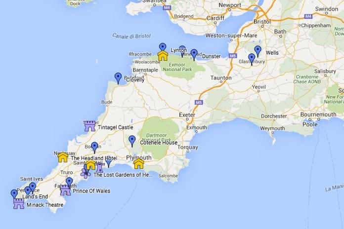 Cartina Cornovaglia.Devon E Cornovaglia On The Road Itinerario Di Viaggio Cosa
