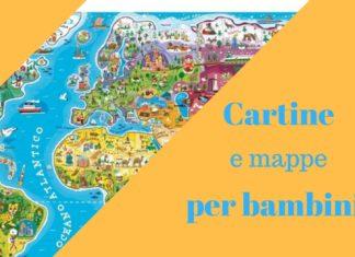 Cartine geografiche e mappe per bambini quando si viaggia in auto