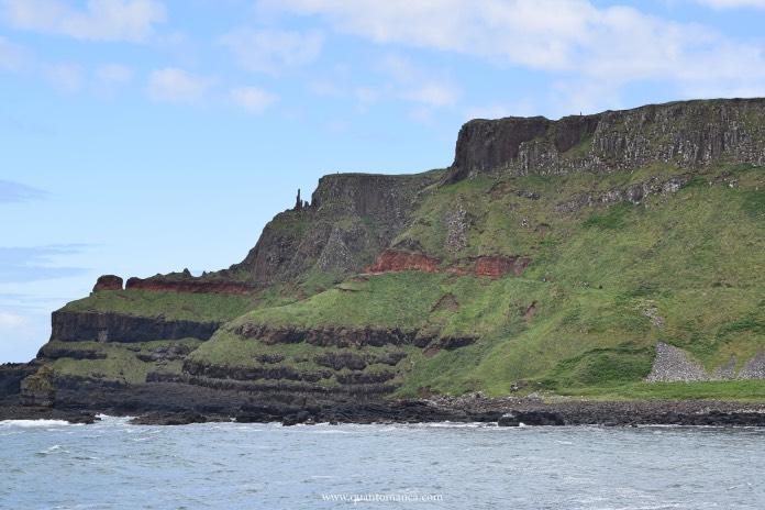 giants causeway vista delle scogliere